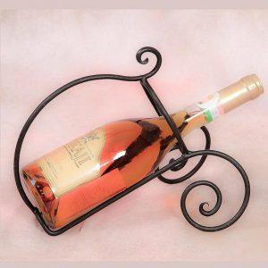 Egyszerű kovácsoltvas borkiöntő bortartó