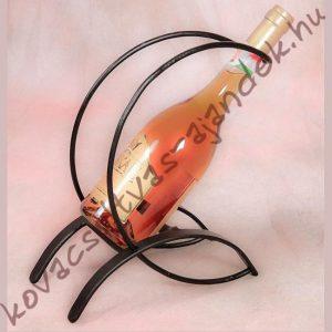 Íves kovácsoltvas bortartó asztali borkionto bortároló