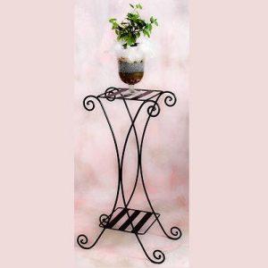 Kétrácsos kocka X virágtartó állvány