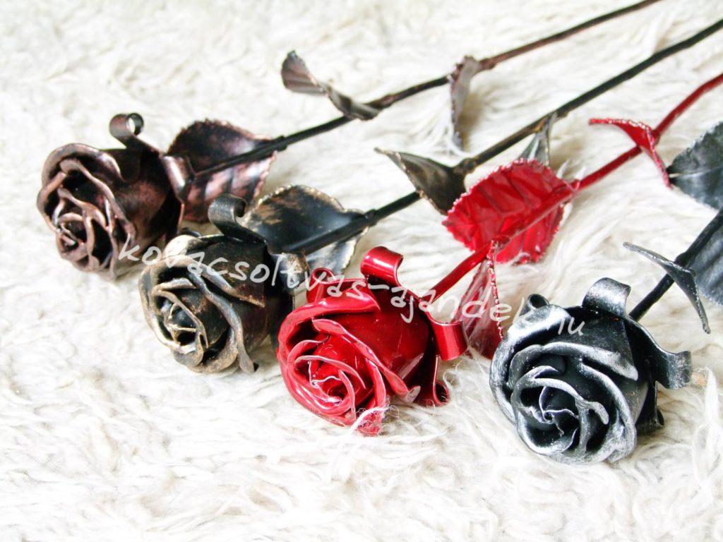 kovácsoltvas rózsa arany ezüst bronz vörös piros