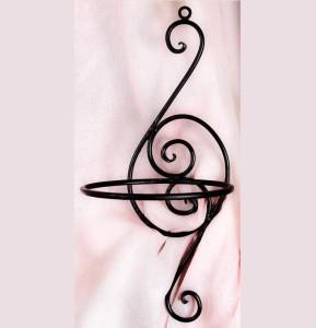 Violin kovácsoltvas fali virágtartó
