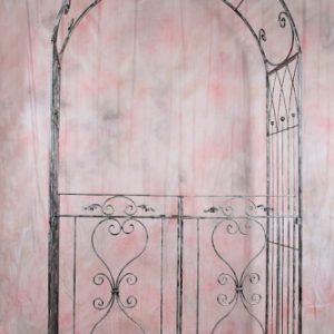 Rózsakapu egyenes ajtóval