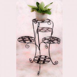 3 lábú 5 rácsos virágtartó állvány
